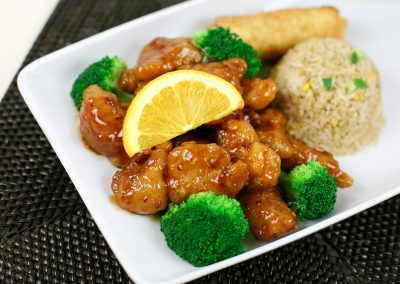 Orange Chicken Lunch Platter